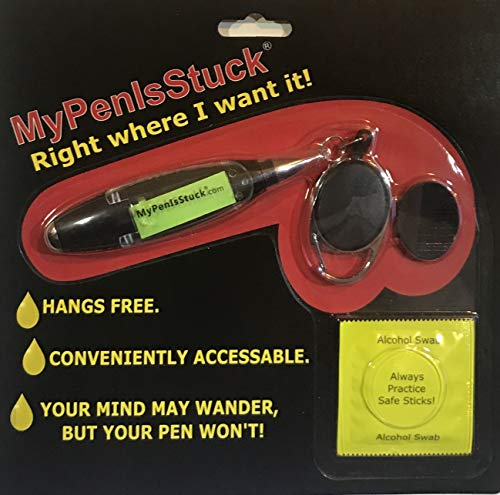 MyPenIsStuck - Pronounced My_Pen_is_Stuck. This is The Ultimate Dad Gift Adult Gag Gift Naughty Secret Santa Gift Yankee Swap Fathers Day Novelty DIY Gadget Tool Ink Pen with LED Penlight