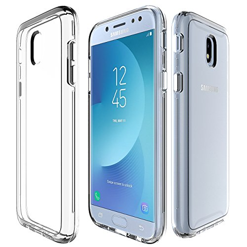 UMaple Galaxy J5 Pro Case,Ultra Slim Crystal Clear Back Cover & Flexible Hybrid TPU Shock-Absorption Protection Case for Samsung Galaxy J530 J5 Pro 2017 5.2