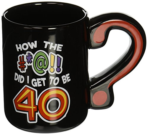 Laid Back C548V How the #at! Did I Get to be 40? Ceramic Mug