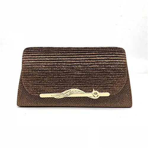 Handbag Bag brown Solid Wedding ULKpiaoliang Evening Ladies Bag Party 8 Evening Clutch Colors Bags Satin Women Bridal TwEUEZqg