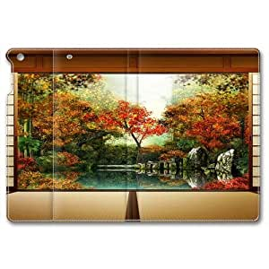 Autumnjpg Standing Leather Smart Cover Case Exclusive for iPad Air Screen