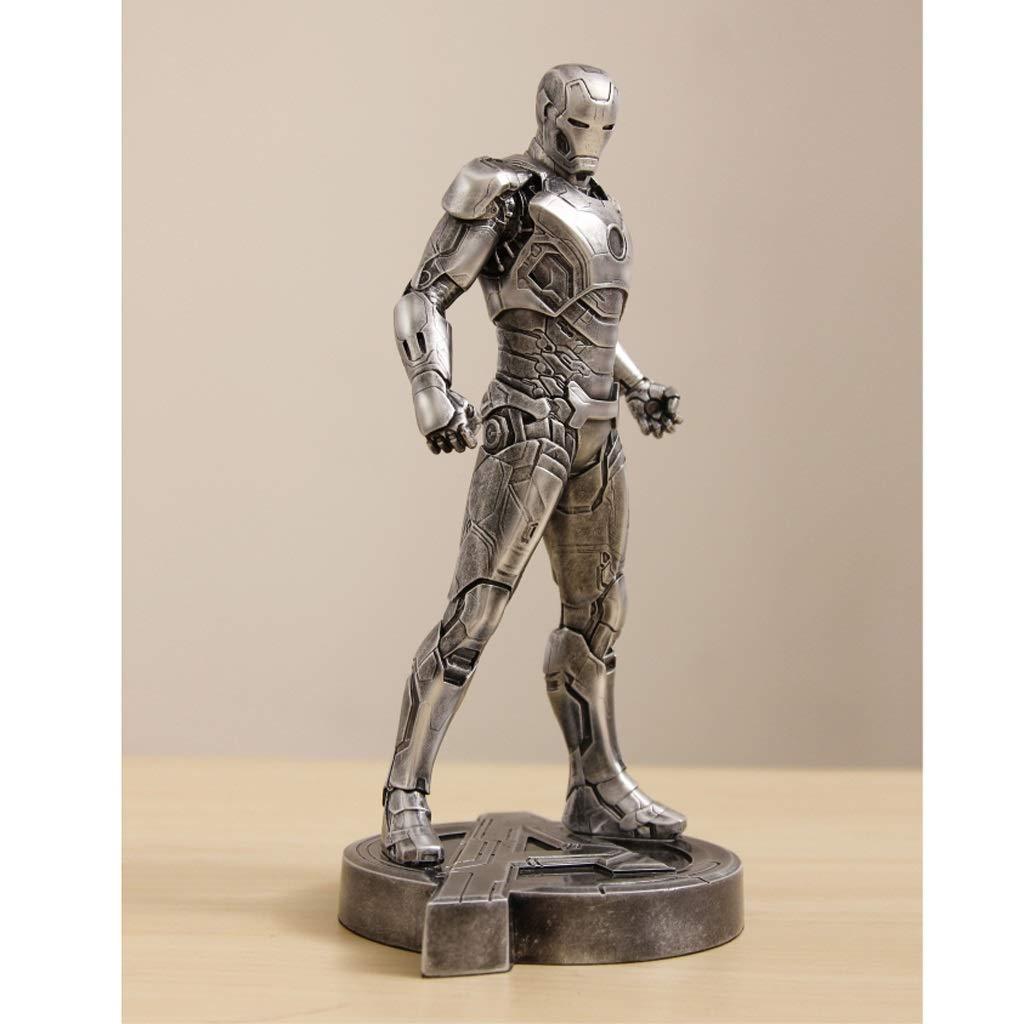 argent  LICCC Avengers Iron Man MK43 Modèle 29cm Statue Réaliste OrneHommest Anime Exquis OrneHommests (Couleur   or)