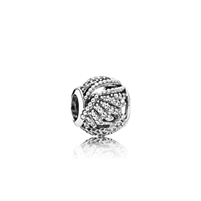 ca490a9fb Pandora 791749cz Majestic Feathers Openwork Charm: Amazon.co.uk: Jewellery