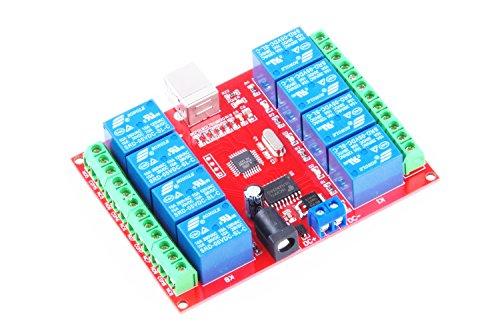 KNACRO SRD-05VDC-SL-C 8-way 5V Relay Module Free driver USB control switch PC intelligent control (5V 8-Channel) by KNACRO (Image #9)