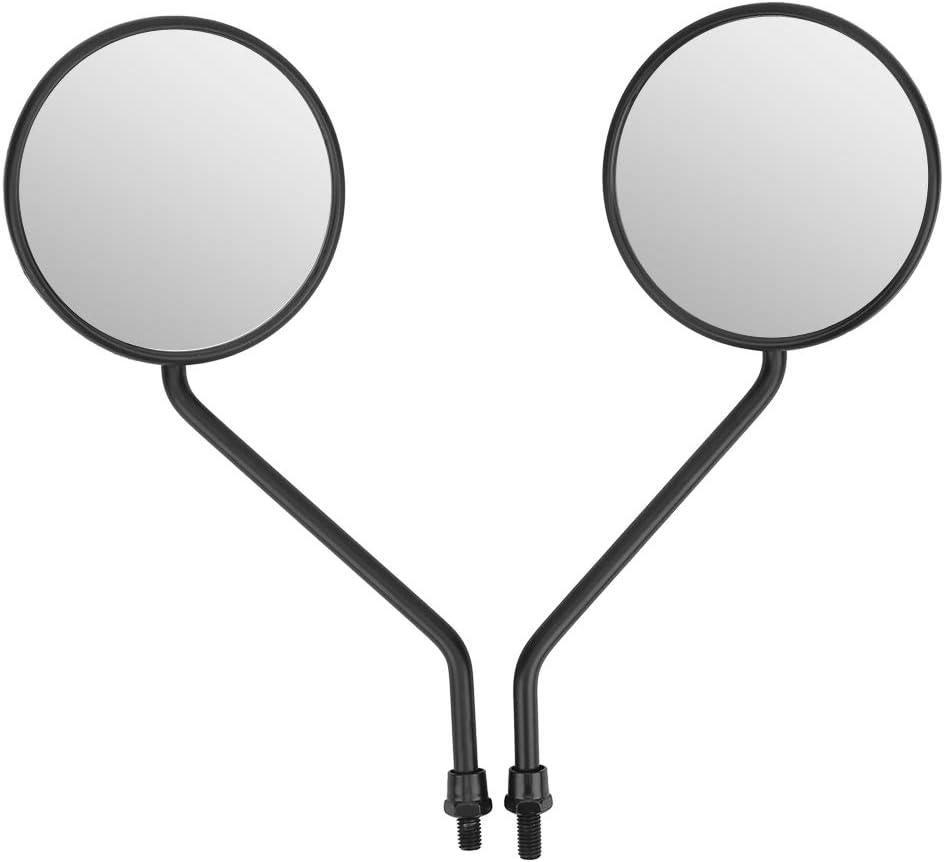 Espejos Laterales Redondos Retro universales Espejo de Manillar de Motocicleta 2 Piezas 8 mm//0.3in Espejo retrovisor de Motocicleta