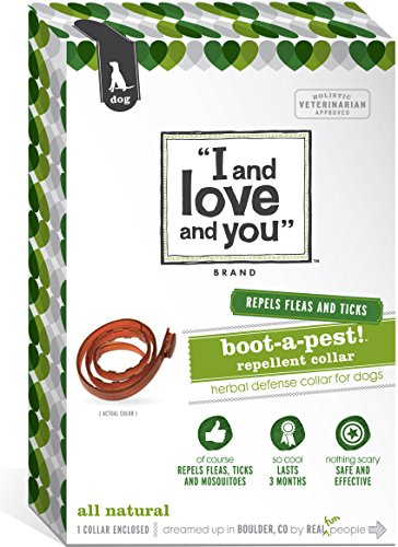 I and love and you, Flea and Tick Boot-a-pest! Repellent Dog Collar
