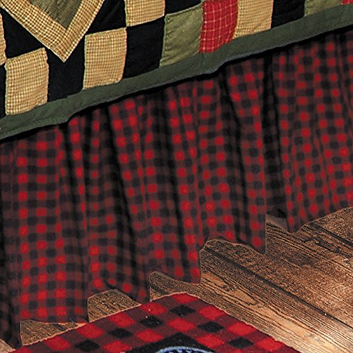 BLACK FOREST DECOR Buffalo Check Bedskirt - ()
