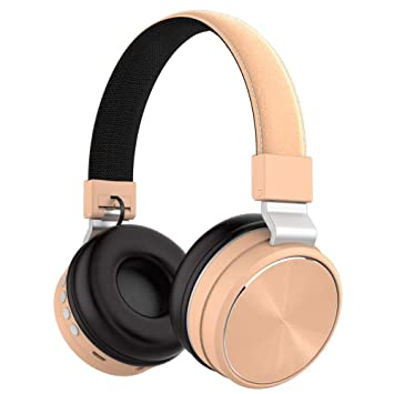 Gaonah Casque Bluetooth Casque Stéréo Hi Fi Pliable Sans Fil Studio