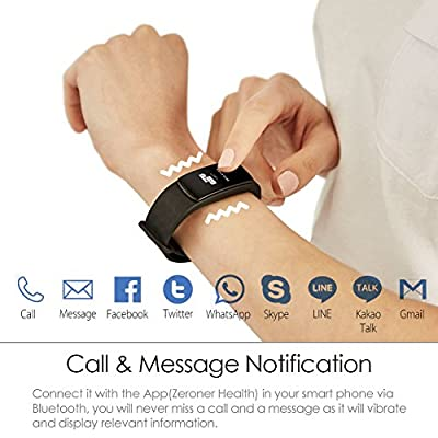 Smart Watch with Heart Rate Monitor LINTELEK Bluetooth 4.0, IP67 Waterproof, Fitness Activity Tracker with Health Sleep Monitor Pedometer Calorie/Step Counter for Android and IOS, 3 Colors Available