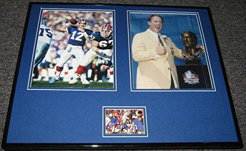 Signed Jim Kelly Photo - Framed 16x20 Set Hall of Fame Miami - Autographed NFL Photos ()
