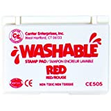 Center Enterprise CE505 Washable Stamp Pads, Red