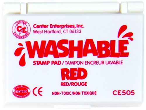 Non Toxic Red Ink (Stamp Pad Washable Red by Center Enterprises)