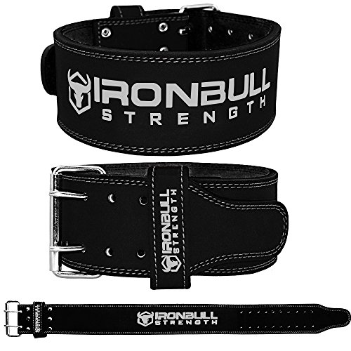 Iron Bull Strength Powerlifting Belt - 10mm Double Prong - 4-inch Wide - Heavy Duty for Extreme Weight Lifting Belt (All Black, XX-Large) by Iron Bull Strength (Image #2)