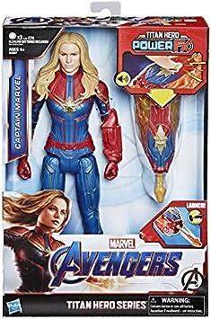 Oferta amazon: Avengers- Titan Hero FX Figura Capitana Marvel, Multicolor (Hasbro E3307105)