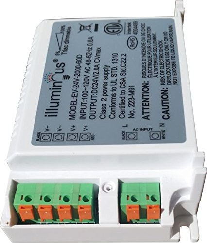 24V 48W Dimmable CV DC LED Driver ETL (UL) approved