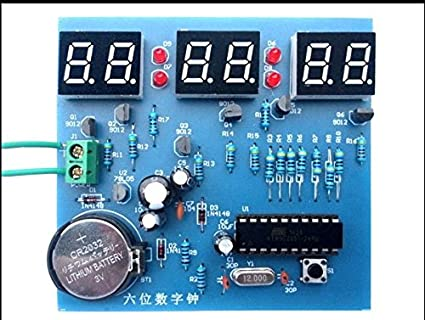 5sets lot at89c2051 six digital clock kit singlechip 6 led clockimage unavailable image not available for color 5sets lot at89c2051 six digital clock