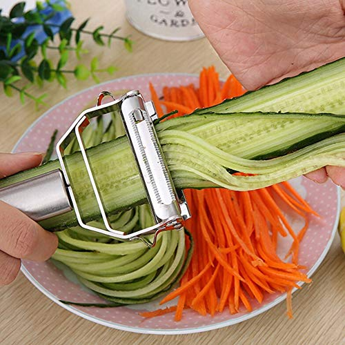 - Fiesta 1PCS Multifunction Stainless Steel Julienne Peeler Vegetable Peeler Double Planing Grater Kitchen Accessories Cooking Tools
