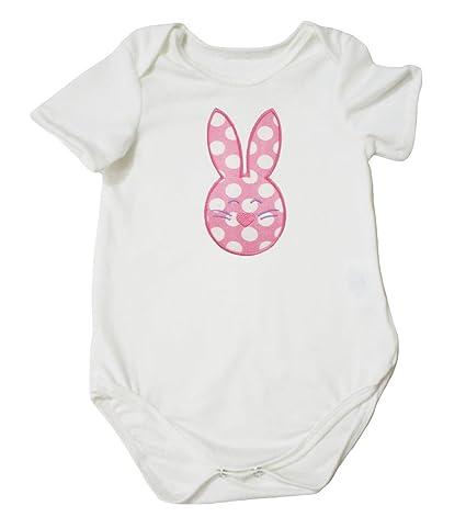 Petitebella First Easter Floral Egg Pink Romper Pink Easter Rabbits Tutu Nb-12m