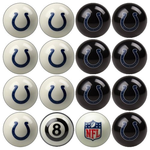 NFL Indianapolis Colts Billiards Ball Set by Imperial