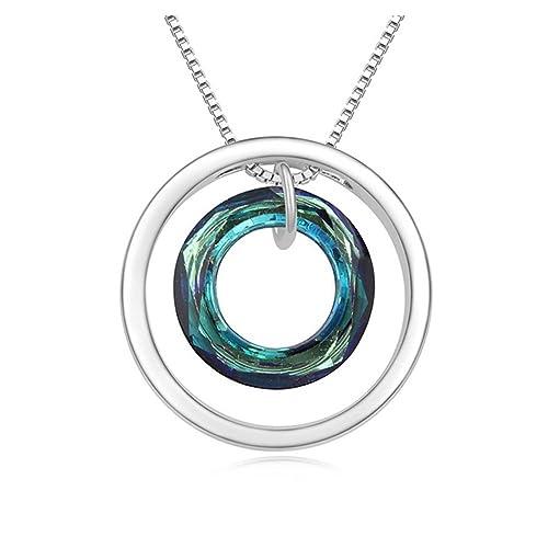 e193312dd2f0 Malanda nuevo Circular colgante de collar de vidrio austriaco ...