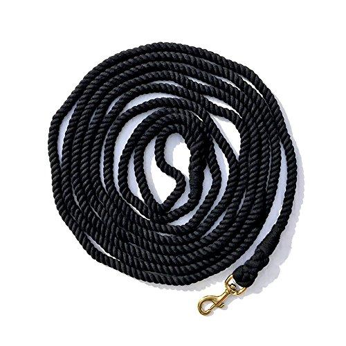 Lunge Line Cotton 5/8'' x 25 ft Black