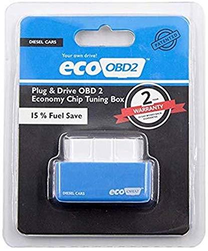 Gasoline&Diesel Fuel Saver Economy Fuel Saver Eco OBD2 Benzine Tuning Box Chip For Car Petrol Gas Saving Lower Fuel and Lower (Blue)