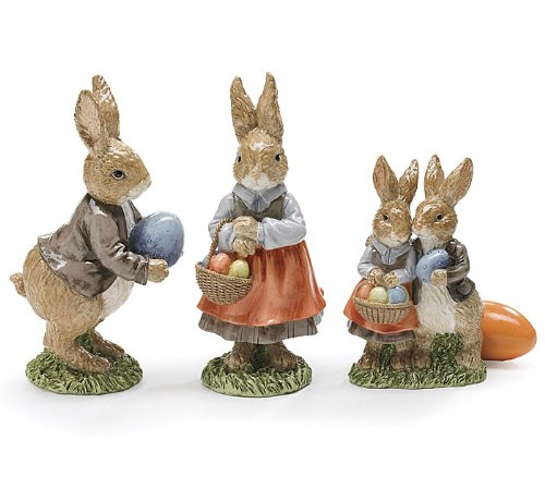 Home Decoration And Furnishing Articles Couple Characters: Easter Bunny Family Figurines