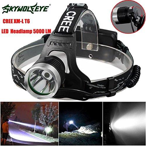 Headlamp Flashlight Rechargeable Sipring 5000 Lumen Lightweight Waterproofing head Light Lamp XM-L XML T6 LED Headlamp Headlight flashlight 18650 Adjustable Headband Best for Camping Running Hiking