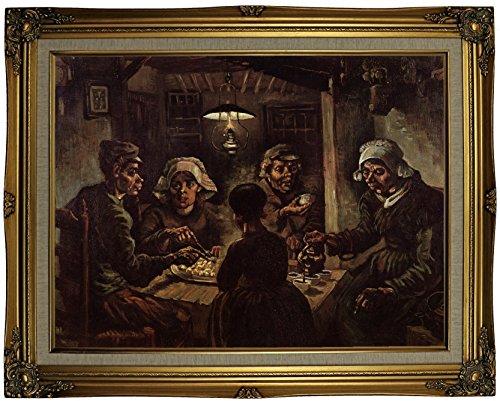 The Potato Gogh Eaters Vincent Van (Historic Art Gallery The Potato Eaters by Vincent Van Gogh Framed Canvas Print 18