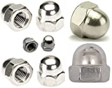 5pcs M4 x 0.7mm Pitch DOME NUTS STAINLESS STEEL