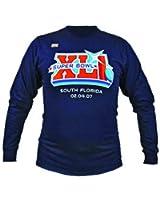 Reebok Mens Long Sleeve Official Shirt Super Bowl XXL NFL South Florida 2007