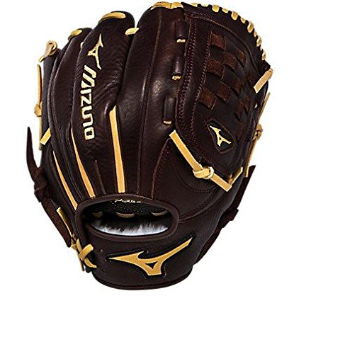 Mizuno GFN1100B1 Franchise Right Handed Throw Baseball Fielders Mitt, Coffee/Cork, 11.00-Inch - Pattern Baseball Fielder Glove