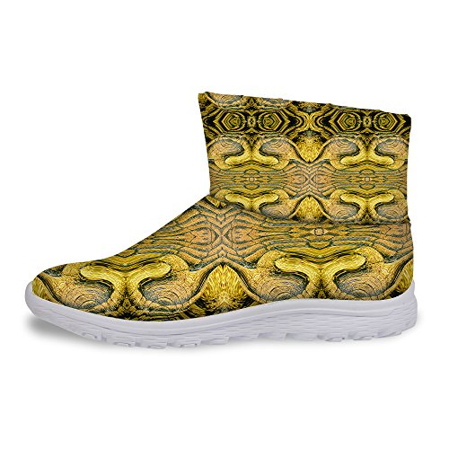 Weather Women's Cool Brown Snow Winter DESIGNS Snake Boots 2 Warm Skin Print FOR U Cold ER1w8YqxTn