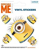 Despicable Me Sticker Adhesive Decal - Heads (5 x 4 inches)