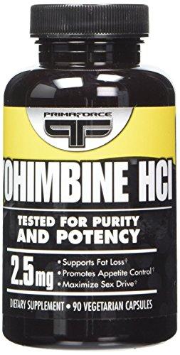 Chlorhydrate de YOHIMBINE PrimaForce 2,5 mg - 90 comprimés