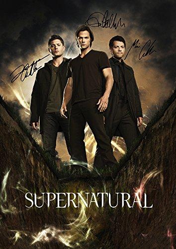 - (11.7 X 8.3) Supernatural Tv Print Jensen Ackles Jared Padalecki Misha Collins