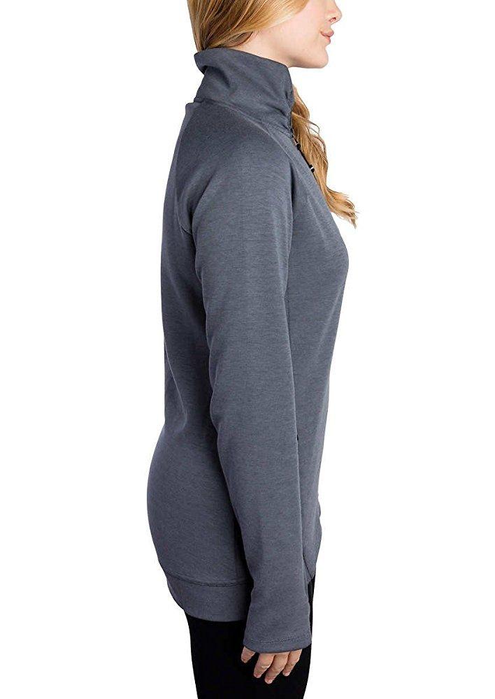 Kirkland Signature Ladies Full Zip Jacket (Dark Gray, Medium) by Kirkland Signature (Image #3)