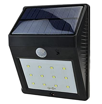 yanghx de energía solar luz led Sensor De Movimiento Para Pared Jardín Calle PIR Lámpara,