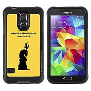 LASTONE PHONE CASE / Suave Silicona Caso Carcasa de Caucho Funda para Samsung Galaxy S5 SM-G900 / When You Play The Thrones