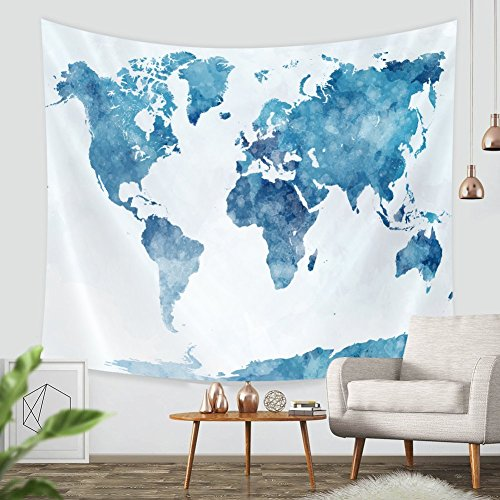 "Snowman Wall Tapestry (Tapestry Wall Hanging Map-ZBLX World Map Hanging Tapestry Wall Art For a Home Decorations-Light-weight Polyester Fabric-Blue,51.2""X59.1"")"