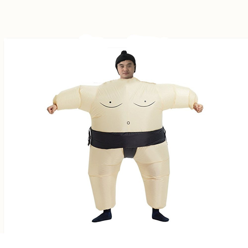YAOXIANG Inflatable Adult Sumo Wrestler Wrestling Suit Halloween Explosion Costume