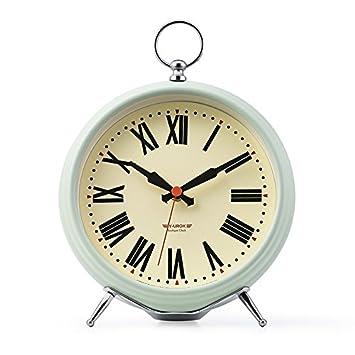 WXIN Clock Wohnzimmer Queen Villa Schlafzimmer Mute Wecker Dekoration  Tischuhr Metallic Lackierung (Roman)