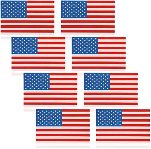 American Flag Stickers (5 x 3 in 8 Pack)