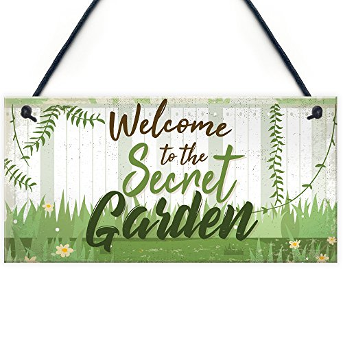 Welcome To The Secret Garden Hanging Plaque Garden Shed SummerHouse Sign Gifts For Her