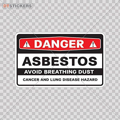 Vinyl Sticker Decal Safety Sign Danger Asbestos Avoid Breathing Dust Atv Car Garage bike (3 X 1,84 In. ) Fully Waterproof Printed vinyl sticker