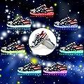 BestShow Women Men LED Shoes USB Charging American USA Flag Sport Light Up Flashing Fashion Sneakers