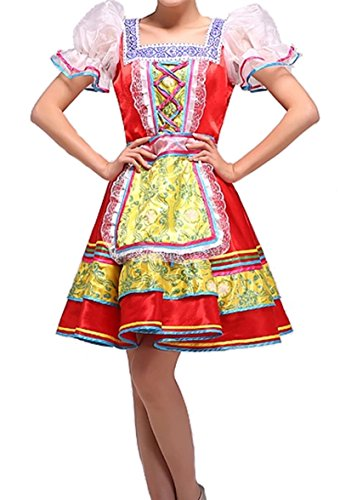 Russian Costumes For Dance - Lemail wig Women's Russian Folk dance Costume Palace maid dress CC654A-M
