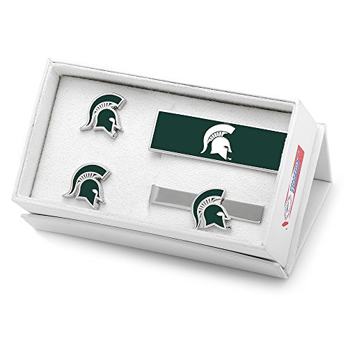 NCAA Mens Michigan State University Spartans 3-Piece Gift Set by Cufflinks