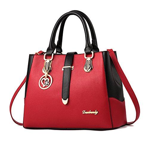 amp; Noir Bandoulière Main Croix Blanc Femme Nouveau Et Sac Mode Corps Fille Rouge Pour Style Travail Casual Dames Imbettuy À Bourse De SCRqp0w