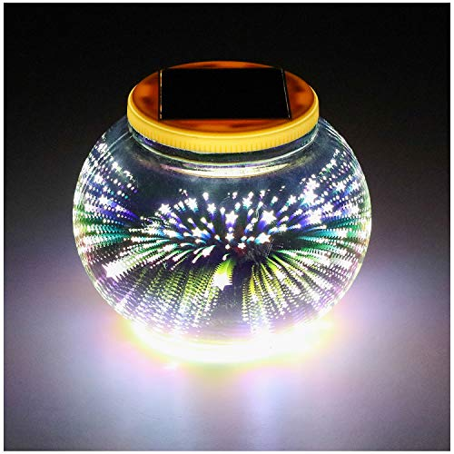 Balls Garden Solar (Mosaic Solar Light,Color Changing/Weatherproof Crystal Glass Globe Ball Light for for Patio, Garden, Yard,Party, Outdoor/Indoor Decoration)